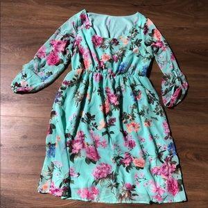 PinkBlush long sleeved maternity dress
